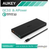 Aukey 16000 mAh Power Bank, внешний аккумулятор с функцией быстрой зарядки Qualcomm QC 3.0
