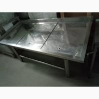 Стол Рыба На льду( холодильный), Стол Для Чистки Рыбы б/у