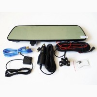 DVR V17 Зеркало регистратор, 7 сенсор, 2 камеры, GPS навигатор, WiFi, 8Gb, Android, 3G