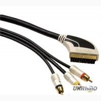 Кабель Hama Scart -2 Cinch+ 1 S-Video gold connection 2.0 метра