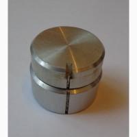Ручка управления двойная, металлическая (ручка на двухосевой двойной резистор)
