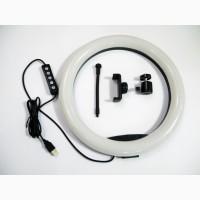 Кольцевая LED лампа RGB MJ33 33см 1 крепл.тел USB