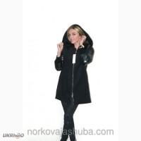 Модное кашемировое пальто с норковым воротником