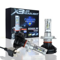 Акция! Philips X3 LED лампы головного света 50W 6000LM ксенон