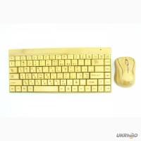 Бамбуковая клавиатура и мышка безпроводная