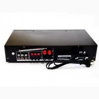 Усилитель звука UKC AV-106BT Bluetooth USB + караоке 2микрофона