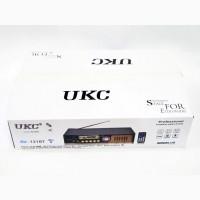Усилитель звука UKC AV-121BT Bluetooth USB + караоке 2микрофона