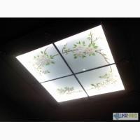 Витражи потолочные, светильники витражные