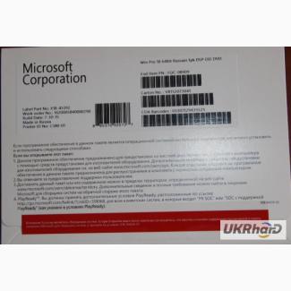 Лицензионная Microsoft Windows 10 Professional 64-bit, RUS, полная OEM-версия (FQC-08909)