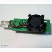 USB нагрузка c вентилятором на 1А 2А 3А, нагрузочный резистор, тестер емкости