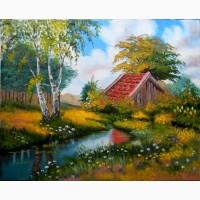 Картина Лесной пейзаж, холст, масло, 40х50 см