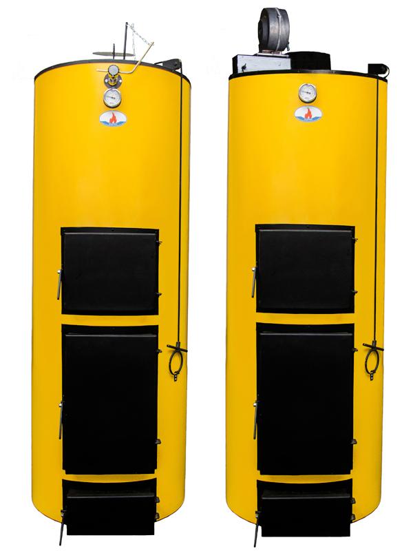 Твердотопливный котел длительного горения Буран 10 - 50У+ГВС (двухконтурный)