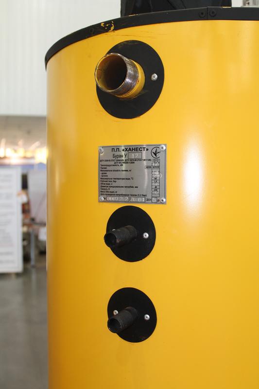 Фото 3. Твердотопливный котел длительного горения Буран 10 - 50У+ГВС (двухконтурный)