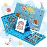 Набор для рисования чемодан 208 предметов Цвет синий