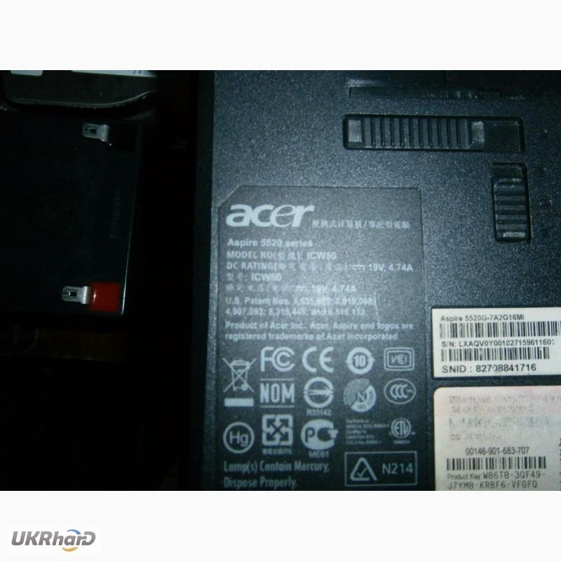 Фото 6. 4 корпуса от ноутбуков Acer 7220 5520