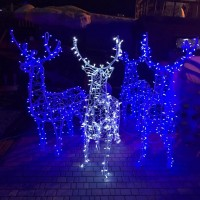 Светодиодные новогодние LED 3D фигуры Олени, сани и пр