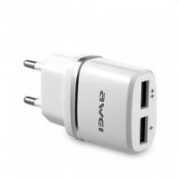 Сетевой адаптер зарядное Awei C-930 5V, 2.1A, 2 USB