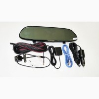 Зеркало регистратор D36, 7 сенсор, 2 камеры, GPS навигатор, WiFi, 16Gb, Android, 3G