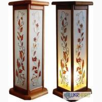 Светильники-подставки, витражные подставки-светильники