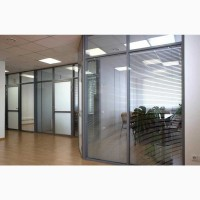 Офисные перегородки из алюминия со стеклом. Разделение кабинета, шумоизоляция