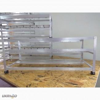 Алюминиевый каркас, стойка, корпус фермы для майнинга на 8 GPU видеокарт