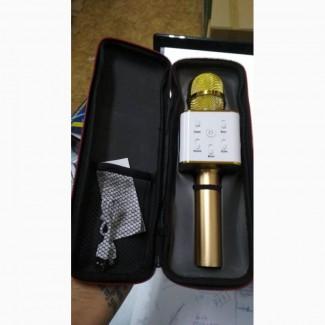 Караоке-микрофон Q7 с динамиком с чехлом