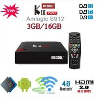 Гибридная Android TV приставка Mecool KIII PRO DVB-S2+Т2+C, S912, Andoid 7.1.1