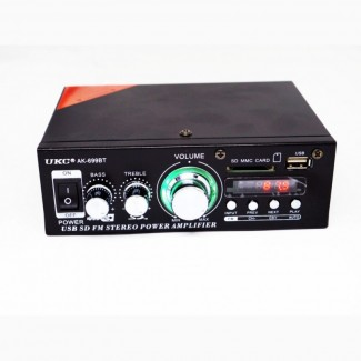 Усилитель звука UKC AK-699BT - Bluetooth, USB, SD-карта, MP3 2x300W 2х канальный