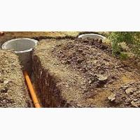 Копаем сливные ямы-канализационные септики, приямки для скважин под